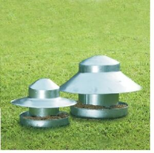 ELTEX GALVANISED GROUND FEEDER IDEAL FOR PHEASANTS DOMESTIC BIRDS CHICKEN DUCKS