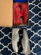 Asic Gel Lyte V size 12 RED/GREY two pairs!!