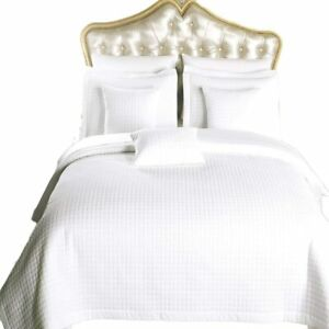 Royal Hotel Bedding Checkered Style Soft and Plush Coverlet, 3PC Set Stiched Fil