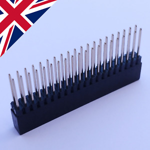 Raspberry Pi long tall 40 20x2 pin GPIO header stacking extension, 2.54mm pitch