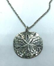 Vintage Sterling Silver James Avery Retired Sand Dollar Pendant Necklace 15.4 gr