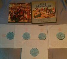 JS Bach St Matthew Passion 5 LP box set Angel Records SEL 3599 w/ insert exe-nm