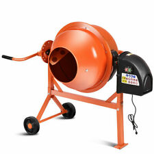 Portable Electric Concrete Cement Mixer 2 1/5 Cubic Ft Stucco Mortar US New