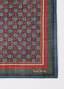 Paul Smith Pocket Square Handkerchief -BNWT Leopard Floral Artist Stripe RRP:£60
