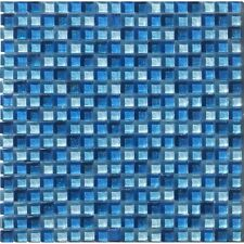 MOSAICO VETRO TESSERE 1,5X1,5 rivestimento BAGNO GLASS GLITTER BLU 30X30 CM