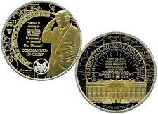 DONALD TRUMP COMMANDER IN CHIEF COLOSSAL COMMEMORATIVE COIN PROOF VALUE $139.95