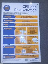 "Resucitation  How to Chart,  65 x 42 cm/25""x16"", Proper Heavy Duty Safety Sign."