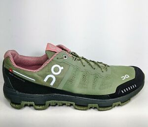 On Cloud Venture Swiss Engineering Olive Green Trail Running Shoes Women W11