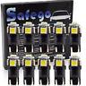 Safego 10X T10 LED-Glühlampe 194 168 2825 5050 5SMD Innenleuchte 6000K 12V