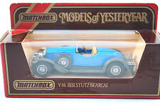 Matchbox of Yesteryear No:Y-14 1931 STUTZ BEARCAT Car in French Blue Colour MIB