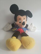 VTG Disney Mickey Mouse Plush Puppet Stuffed Animal Vacation 16 inches