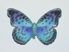 NEW BATH & BODY WORKS BLUE SPARKLY BUTTERFLY MAGNET LARGE 3 WICK CANDLE DECOR