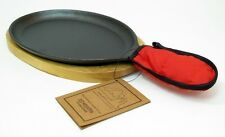 OLD MOUNTAIN CAST IRON Large  FAJITA SET SKILLET With Hot Plate #10132