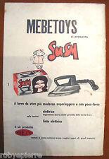 Pubblicità advertising vintage Mebetoys ferro da stiro elettrico giocattolo Susy