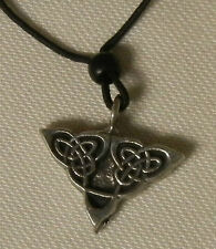 PEWTER CELTIC TRILOGY KNOT Necklace Lead-Free Inctricate - USA Made
