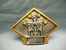 Cheerleading trophy resin diamond plaque large size