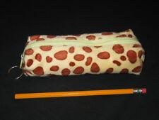 """NEW """"GIRAFFE PRINT"""" Girls Furry Animal Pencil Pouch Zipper Case School Bag Favor"""