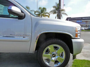 Stainless Fender Trim Molding for Chevy Silverado 1500 2500 3500 HD