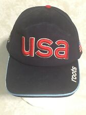 2002 Winter Olympic Roots Strapback Cap Hat Navy Blue Vintage USA NWT
