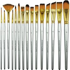 NEW MyArtscape 15 Synthetic Short Handle Paint Brushes FREE SHIPPING