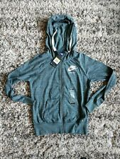 Nike Women's Size SMALL Gym Vintage Full Zip Hoodie Jacket 883729 328 Green NWT