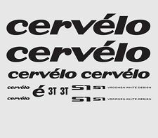 Cervelo S1 Bicycle Decals, Transfers, Stickers: Black n.1