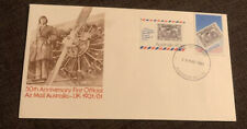 1981 50th Anniversary First Official A 00004000 ir Mail Australia To Uk Australian Apo Fdc