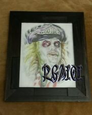 Beetlejuice hand drawn original sketch drawing color pencil 1 only artist tattoo