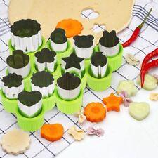 12 x acciaio inossidabile Cutter Affettatrice Frutta Verdura Patate Cucina Stampo Biscotti