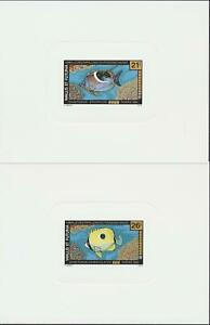 [P25280] Wallis Futuna 1992 fishes 2 good very fine LUXE sheets