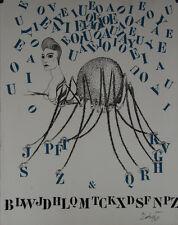 """""""La tarentule des lettres"""" Lithographie signée Félix LABISSE"""