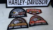 STUGIS BLACK HILLS RALLY PATCH COLLECTION VEST JACKET 1996 1994 2003 2004 HARLEY