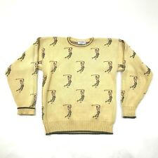 VINTAGE 80s Tricots St Raphael Crew Neck Sweater Size Large L Knitted Golfer USA