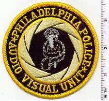 Philadelphia Police (Pennsylvania) Audio Visual Unit Shoulder Patch 1980's