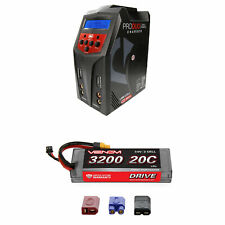 Venom 20C 2S 3200mAh 7.4V LiPo Hardcase Battery and Pro Duo Charger Combo