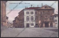 NOVARA CARPIGNANO SESIA 36 MUNICIPIO Cartolina viaggiata 1937