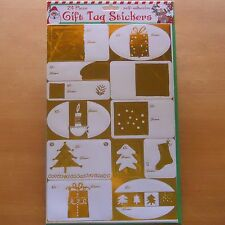 96 CHRISTMAS GIFT TAG STICKERS SELF-ADHESIVE 24-Pack GOLD & SILVER FREE USA S&H