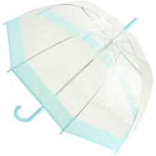 Susino Clear Dome Umbrella - Pastel Turquoise