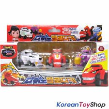 Dino Core Mini Car 3 pcs Set Toy w/ Button Melody LED Effect Tyranno Saber Stego