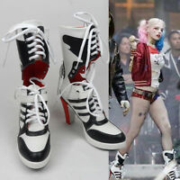 Movie Batman DC Suicide Squad Harley Quinn Cosplay Boots Women High Heel shoes