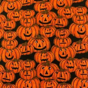 100% Cotton Halloween Prints - 3 Wishes Spooky Night - Pumpkins 112cm Wide