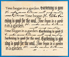 Garden Words Background Rubber Stamp by Paper Inspirations - X Lg - Sayings