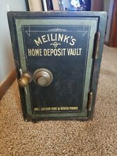 1890s MEILINK CO TOLEDO ANTIQUE SMALL MINIATURE IRON PERSONAL HOME BUSINESS SAFE