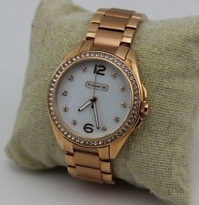 NEW AUTHENTIC COACH TRISTEN CRYSTALS ROSE GOLD WOMEN'S 14501662 WATCH