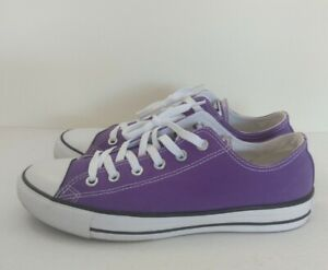 Converse All Star Purple Canvas Low Top Sneakers 137837F Size Men's 8 Woman's 10