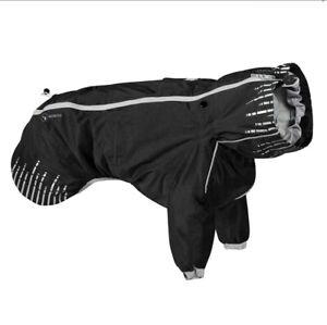 "NEW Hurtta Rain Blocker Dog Rain Jacket Coat Size 18""/45cm Raven- Reflective"
