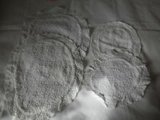 VINTAGE 4 White Towelling with Lace Edging Doilies