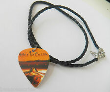 ALICE IN CHAINS AIC guitar pick plectrum braided twist LEATHER NECKLACE 20""
