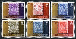 Jersey 2010 MNH Postal History Regional Definitives QEII 6v Set Stamps-on-Stamps