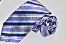 Men's Donald J. Trump Striped Purple Silk Neck Tie made in China